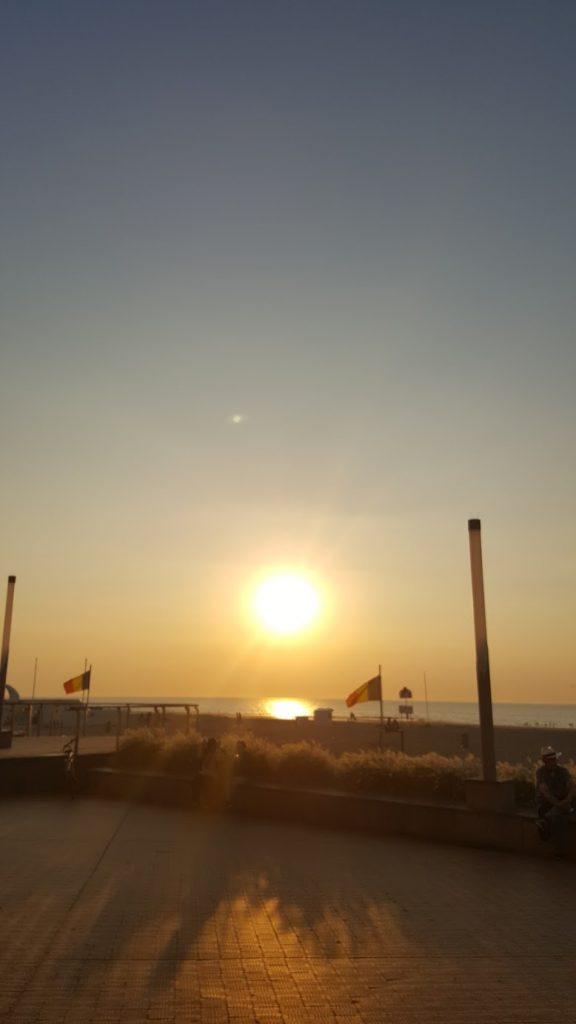 Couché de soleil sur plage